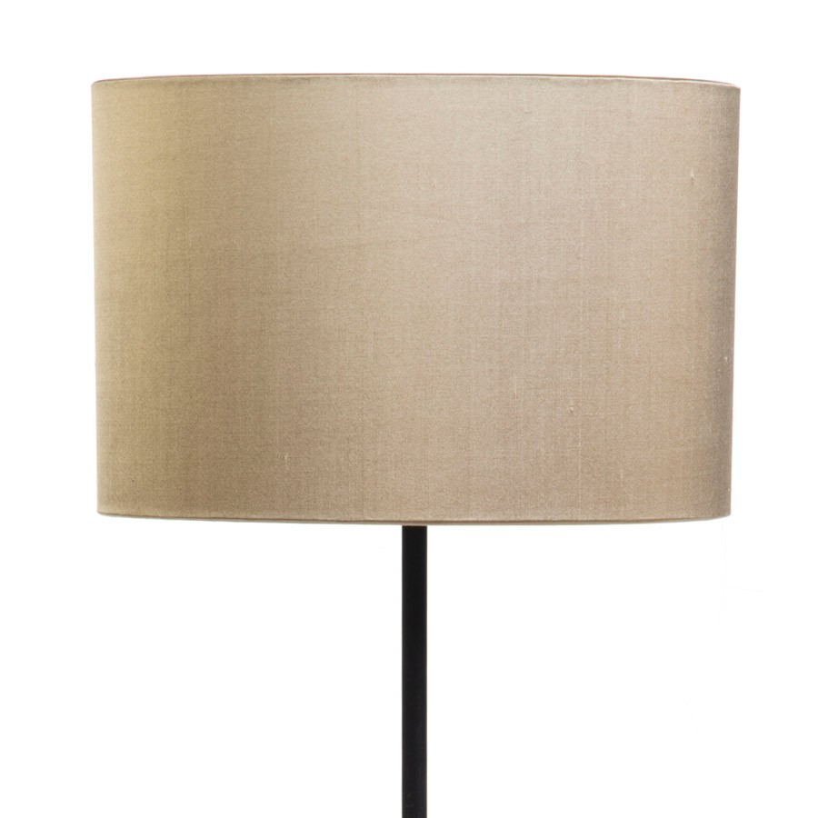 Signature Drum Laminated Lampshade in Pebble Silk