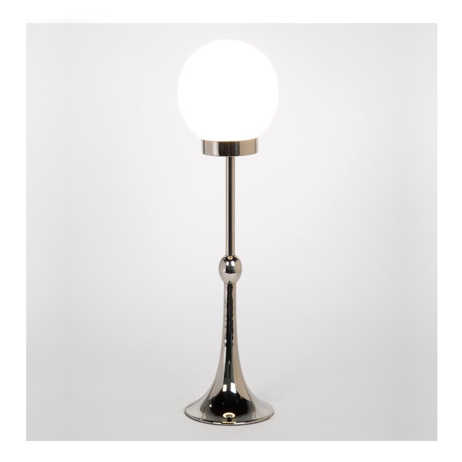 Regency Globe with nickel lamp base