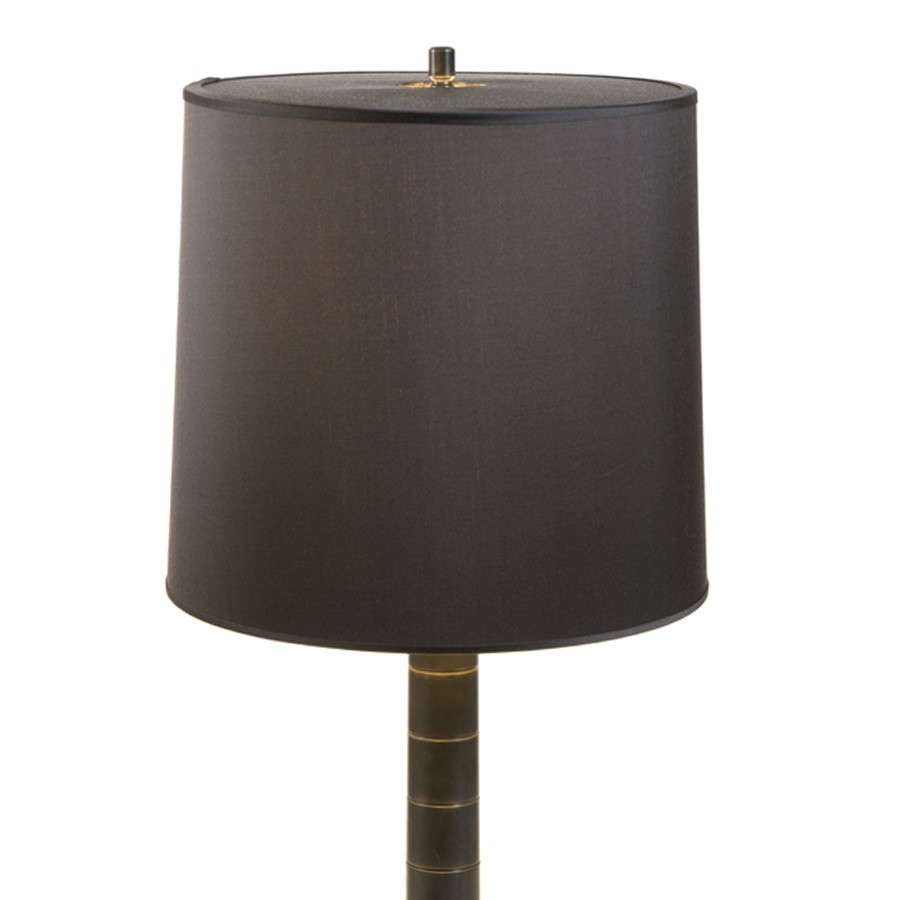 Dark chocolate brown laminated drum lampshade with full top diffuser