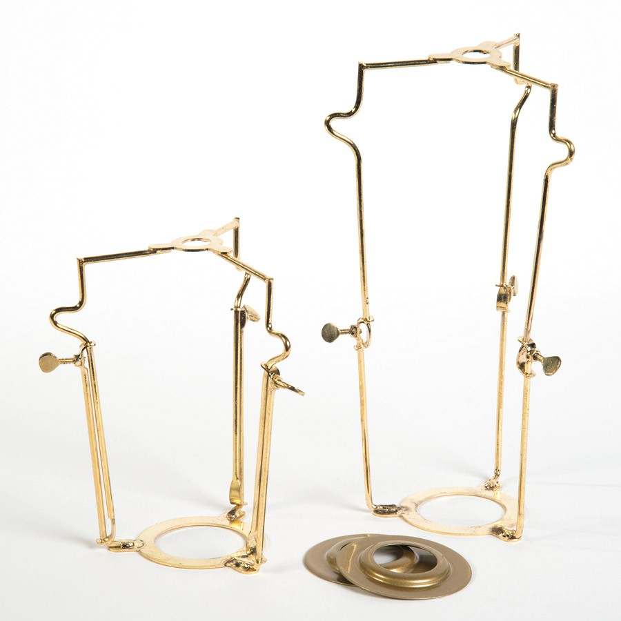 Lampshade Carrier in Brass