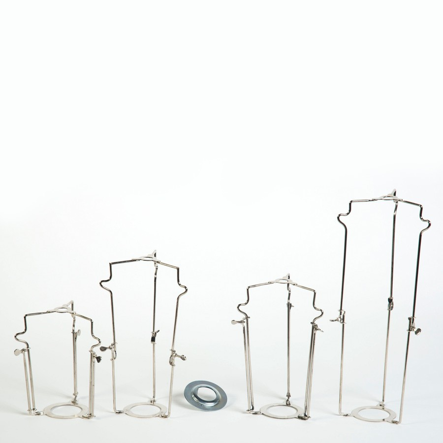 Lampshade Carriers in Nickel