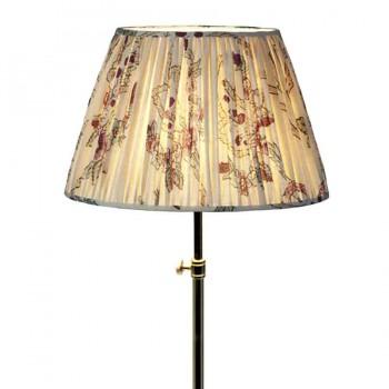 Gathered printed linen lampshade