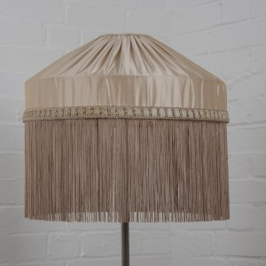Beautiful silk shade with long fringe
